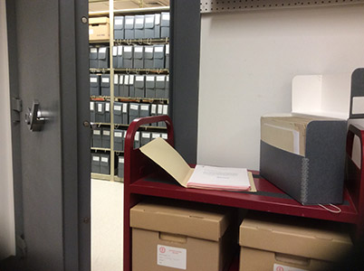 View of the vault located inside the Archives (Image courtesy of Dickinson College/Jim Gerencer)