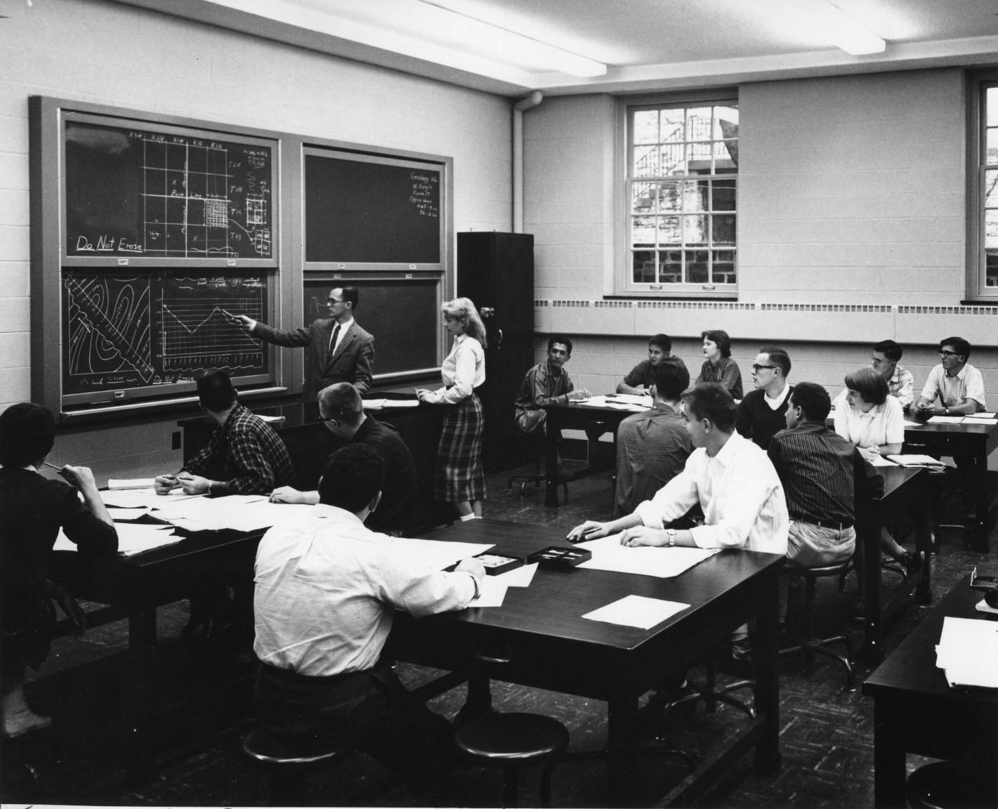 Geology class, 1958
