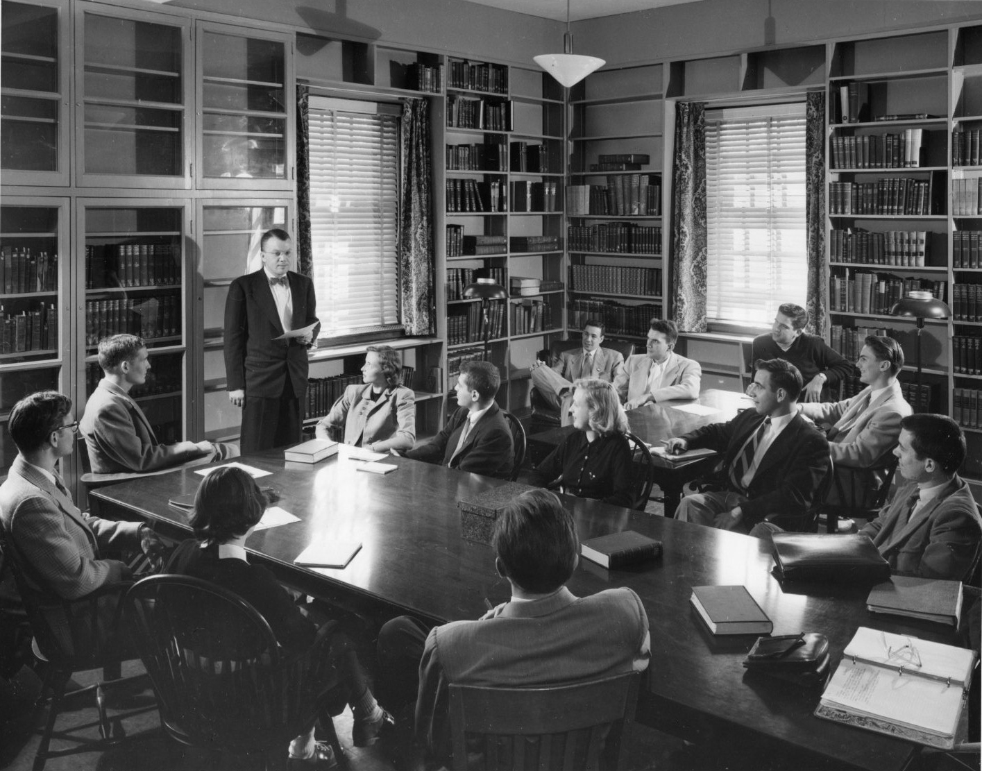 History class, 1952