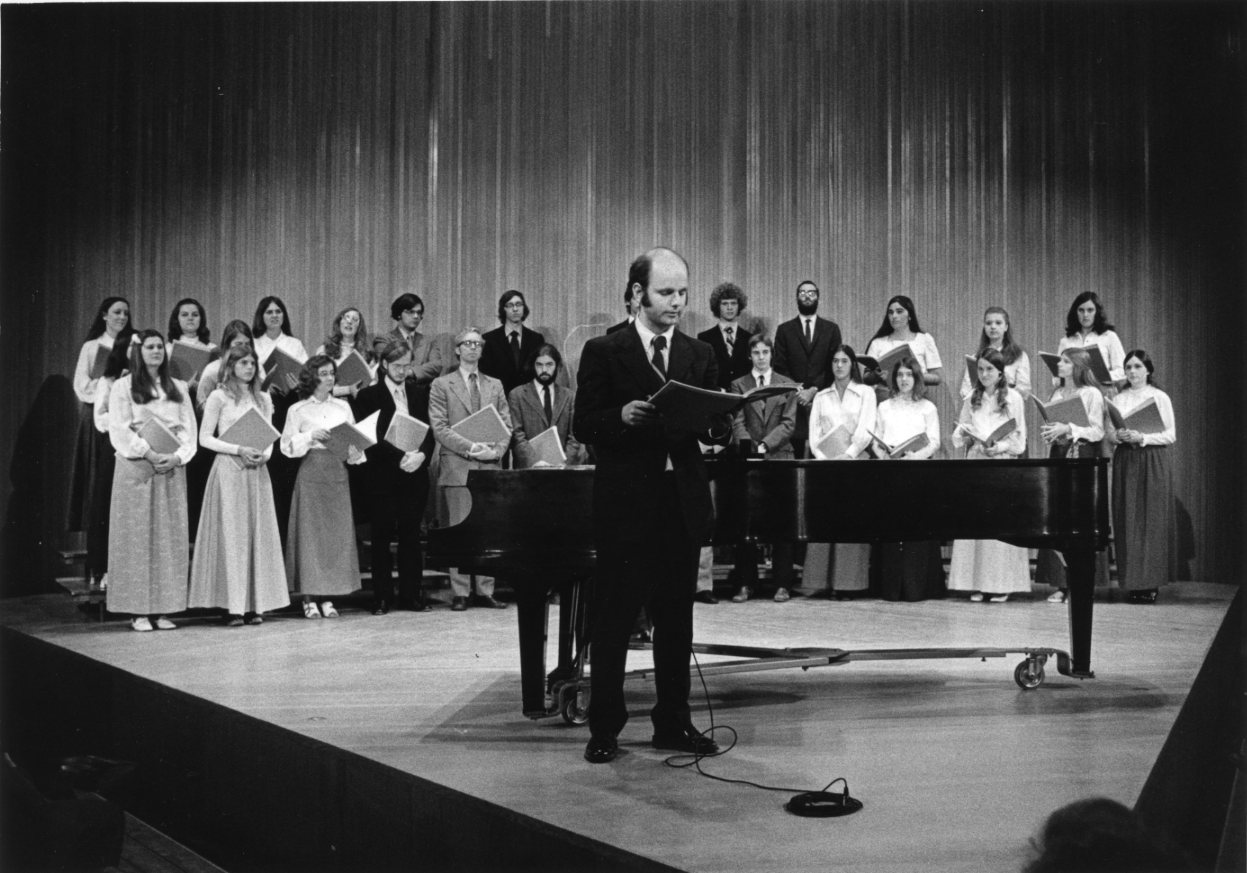 Combined Collegium and Choir concert, 1973