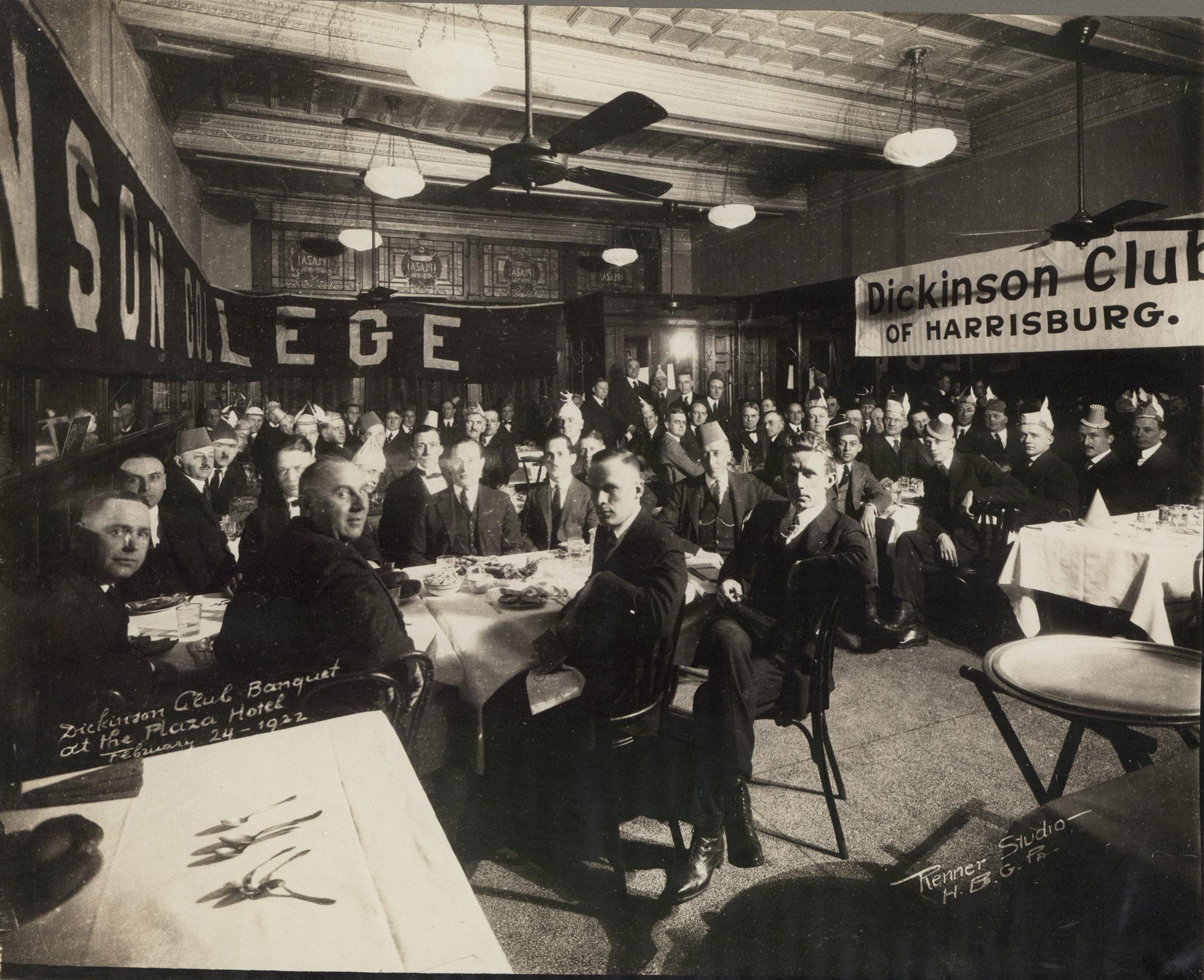 Dickinson Club of Harrisburg banquet, 1922