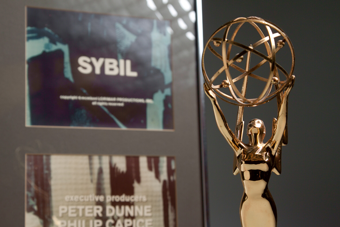 "Emmy won by Philip Capice '52 for his work as an executive producer of ""Sybil"" (Image courtesy of Dickinson College/Carl Sander Socolow)"