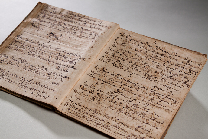 Commonplace book prepared by Elizabeth Graeme Fergusson for for Annis Boudinot Stockton, mother-in-law of college founder Benjamin Rush (Image courtesy of Dickinson College/Carl Sander Socolow)