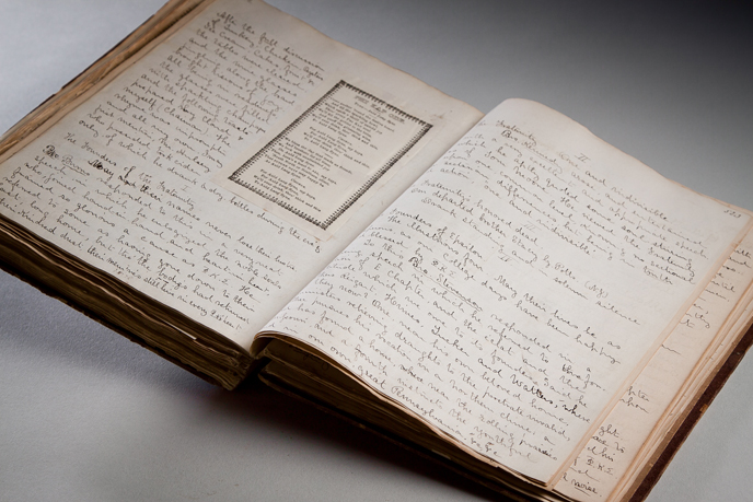 Diary written by Horatio Collins King while a student at Dickinson from 1854-1858 (Image courtesy of Dickinson College/Carl Sander Socolow)
