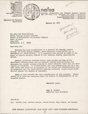 Letter from Hugh Jenkins to Mary Ann Spreckelmeyer