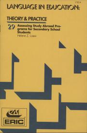 """""""Assessing Study Abroad Programs for Secondary School Students,"""" by Helene Loew"""