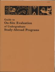 """""""Guide to On-Site Evaluation of Undergraduate Study-Abroad Programs,"""" by Ronald Stutzman"""