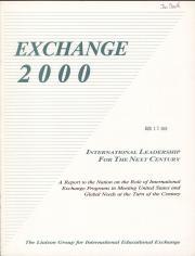 Exchange 2000: International Leadership for the Next Century