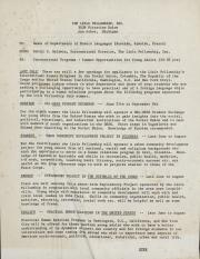Letter from DeWitt Baldwin to Heads of Departments of Modern Languages