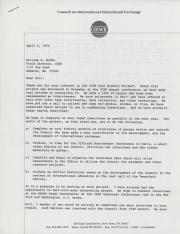 Letter from Joan Gore to William Hoffa