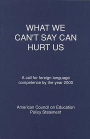 """""""What We Can't Say Can Hurt Us"""""""