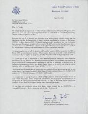 Letter from Carmen Aponte to Brian Whalen