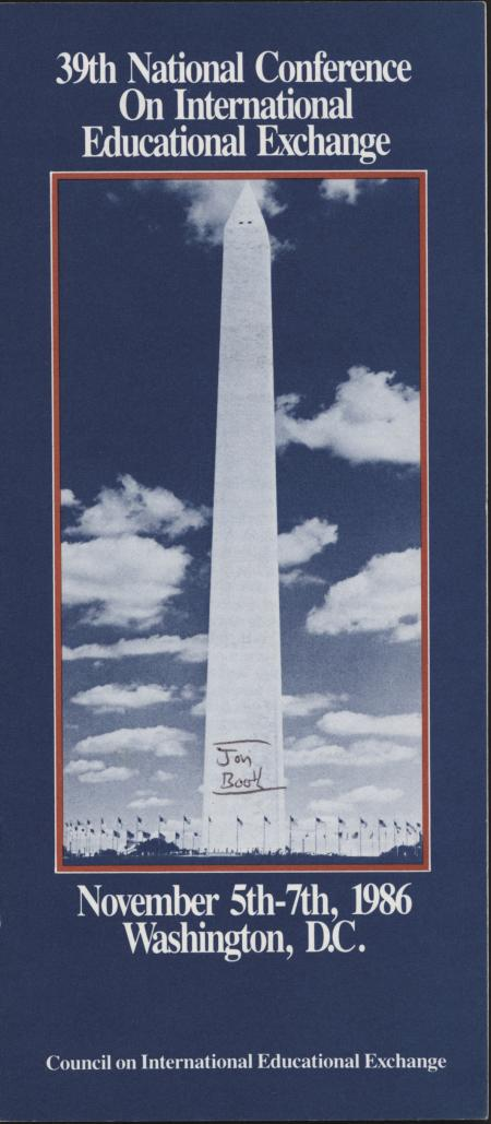 39th Council of International Educational Exchange (CIEE) National Conference Brochure, Washington D.C.