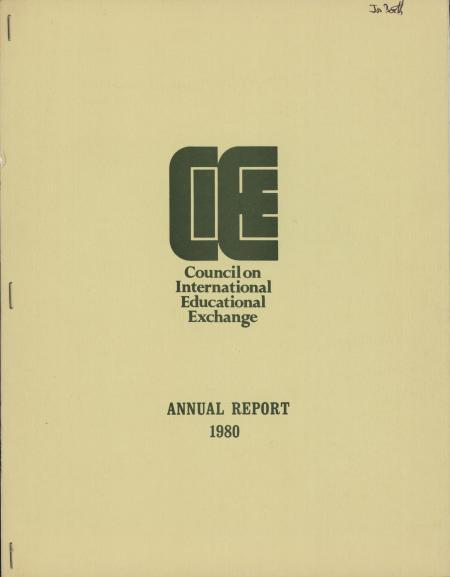 Council on International Educational Exchange (CIEE) 1980 Annual Report