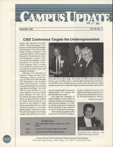 Campus Update Newsletter December 1990