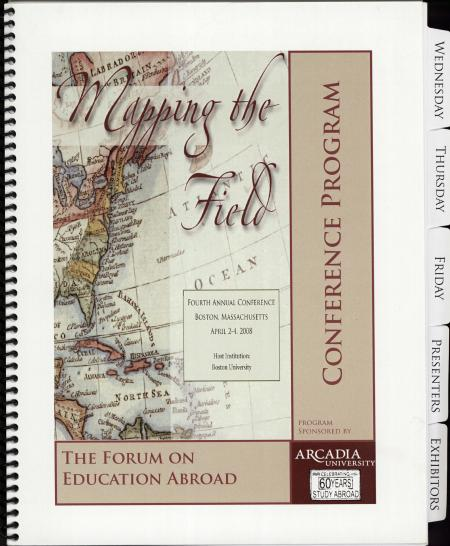 The Forum on Education Abroad Conference Program (2008)
