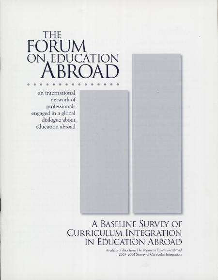 A Baseline Survey of Curriculum Integration in Education Abroad