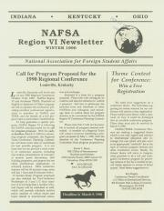 NAFSA Region IV - Winter 1990