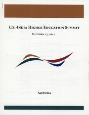 U.S. - India Higher Education Summit