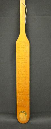 Theta Chi Pledge Paddle, 1970