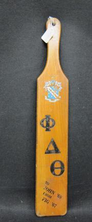 Phi Delta Theta Pledge Paddle, c.1960
