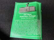 Pewter West College Ornament