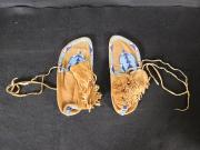Blue and Red Beaded Moccasins, c.1890