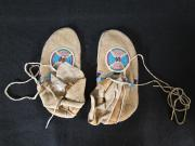 Multicolored Beaded Moccasins, c.1890