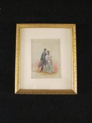 Watercolor of a Man and Woman, c.1890