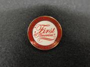 """First in America"" pin, 2006"