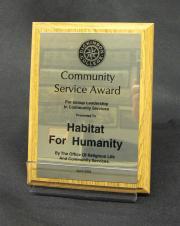 Community Service Award plaque, 2004