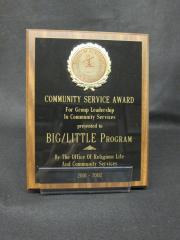 Big-Little Program plaque, 2001-2002