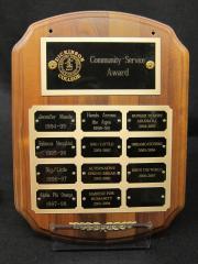 Community Service Award plaque, 1994-2007