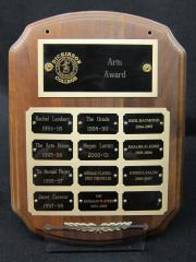 Arts Award plaque, 1994-2007