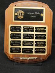Campus Media Award plaque, 1994-2007