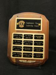 Sophomore Class Leadership Award plaque, 1994-2007