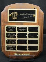 Education Program Award plaque, 1999