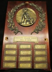 Sports Hall of Fame Plaque, 1969