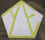 Alpha Delta Epsilon Felt Plaque, c.1970