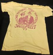 Back of Springfest, 1977 T-shirt