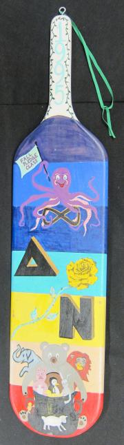 Delta Nu Pledge Class Paddle, 1995