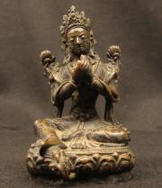 Metal Statue of Vajarasattva, c.1960