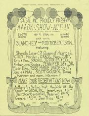 """Altland's Ranch """"Aphrodisiactic April Acts of Kindness [AAOK] Show: Act IV"""" Poster: Part 2 - April 27, 1991"""