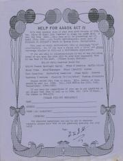"""Altland's Ranch """"Performer Application for Aphrodisiactic April Acts of Kindness [AAOK] Act IV"""" Poster - April 27, 1991"""