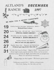 Altland's Ranch Christmas Celebration - December 19 - 31, 1997