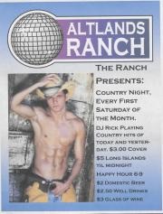 Altland's Ranch Country Night Poster - undated