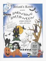 "Altland's Ranch ""Haunting Halloween"" Poster - October 30, circa 2000"