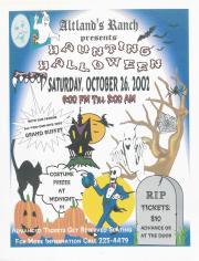 """Altland's Ranch """"Haunting Halloween"""" Poster - October 26, 2002"""