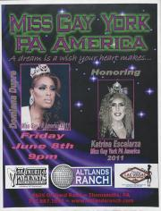 "Altland's Ranch ""Miss Gay York PA  America"" Poster - June 8, circa 2011"