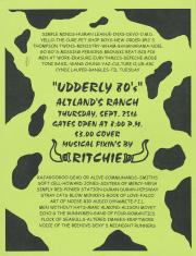 """Altland's Ranch """"Udderly 80s"""" Posters - September 25, circa 2000"""